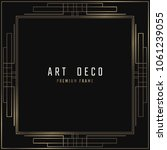 vector card. art deco style.... | Shutterstock .eps vector #1061239055