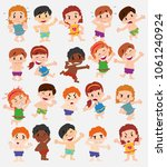 cartoon character boys and... | Shutterstock .eps vector #1061240924