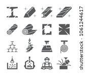 steel metal icon set   Shutterstock .eps vector #1061244617