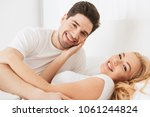 image of young loving couple... | Shutterstock . vector #1061244824