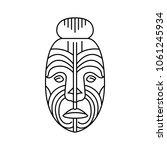 maori face icon. outline maori... | Shutterstock .eps vector #1061245934