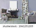 modern interior decoration... | Shutterstock . vector #1061251205
