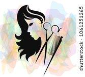 beauty salon and hairdresser...   Shutterstock .eps vector #1061251265
