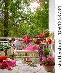 modern decorative balcony style.... | Shutterstock . vector #1061253734