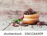 jerked dried meat  cow  deer ... | Shutterstock . vector #1061266409