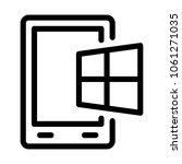 digital tablet operating system | Shutterstock .eps vector #1061271035
