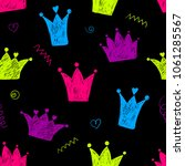 abstract seamless crown pattern.... | Shutterstock .eps vector #1061285567