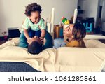 happy african descent family   Shutterstock . vector #1061285861