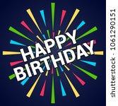 happy birthday typography... | Shutterstock .eps vector #1061290151
