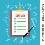 survey online customer | Shutterstock .eps vector #1061293901