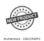 black stamp isolated on the... | Shutterstock .eps vector #1061296091