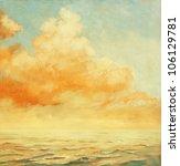 Sea Landscape With A Cloud  ...
