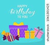 happy birthday design with... | Shutterstock .eps vector #1061301425