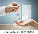 passing keys against backdrop... | Shutterstock . vector #106130159