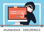 hacker concept. hacker hacked...   Shutterstock .eps vector #1061304611