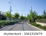 the jerusalem light rail path... | Shutterstock . vector #1061310674