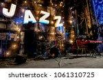 jazz music concert stage night... | Shutterstock . vector #1061310725