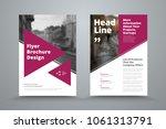 vector flyer template with... | Shutterstock .eps vector #1061313791