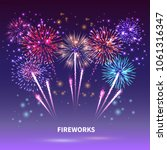 fireworks composition with... | Shutterstock .eps vector #1061316347