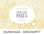 vector banner template with... | Shutterstock .eps vector #1061316977
