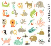 complete children abc alphabet... | Shutterstock .eps vector #1061317187
