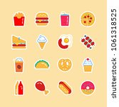 flat fast food colorful...   Shutterstock .eps vector #1061318525