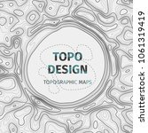 topographic map background with ... | Shutterstock .eps vector #1061319419