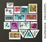 Set Of Vector Postage Stamps...