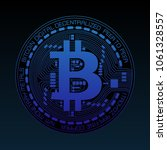 famous cryptocurrency bitcoin... | Shutterstock .eps vector #1061328557