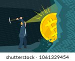 concept of cryptocurrency.... | Shutterstock .eps vector #1061329454