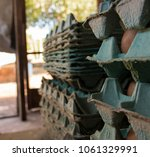 production of eggs with hens... | Shutterstock . vector #1061329991