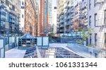 modern glass skyscrapers... | Shutterstock . vector #1061331344