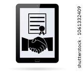 business agreement vector icon... | Shutterstock .eps vector #1061332409