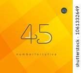 number forty five  digit 45... | Shutterstock .eps vector #1061332649