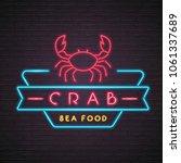 crab illustration neon light... | Shutterstock .eps vector #1061337689