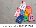 crowded neighborhood concept.... | Shutterstock . vector #1061339501