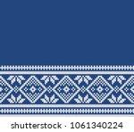 norway festive sweater fairisle ... | Shutterstock .eps vector #1061340224