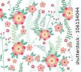 cute floral seamless pattern... | Shutterstock .eps vector #106134044