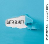 datenschutz  german for data...   Shutterstock . vector #1061341097