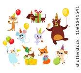 collection of cute cartoon...   Shutterstock .eps vector #1061341541