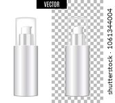 3d white realistic cosmetic... | Shutterstock .eps vector #1061344004