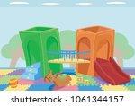 illustration of an indoor... | Shutterstock .eps vector #1061344157