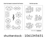 two visual math puzzles and... | Shutterstock .eps vector #1061345651
