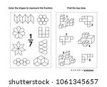 two visual math puzzles and... | Shutterstock .eps vector #1061345657