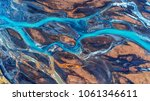 aerial view and top view river... | Shutterstock . vector #1061346611