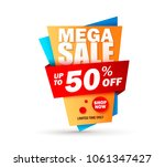super sale layout design with... | Shutterstock .eps vector #1061347427