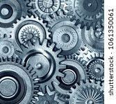 3d metallic gears background | Shutterstock . vector #1061350061