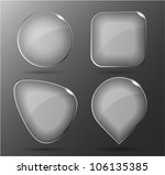 glass buttons. vector... | Shutterstock .eps vector #106135385