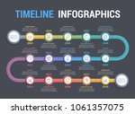 colorful timeline infographics... | Shutterstock .eps vector #1061357075