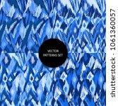 ikat patterns set. doodles... | Shutterstock .eps vector #1061360057